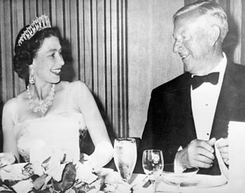 Queen Elizabeth and UBC President Norm MacKenzie, July 1959